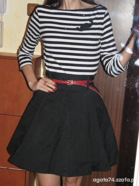 Mój styl w paski biało czarne