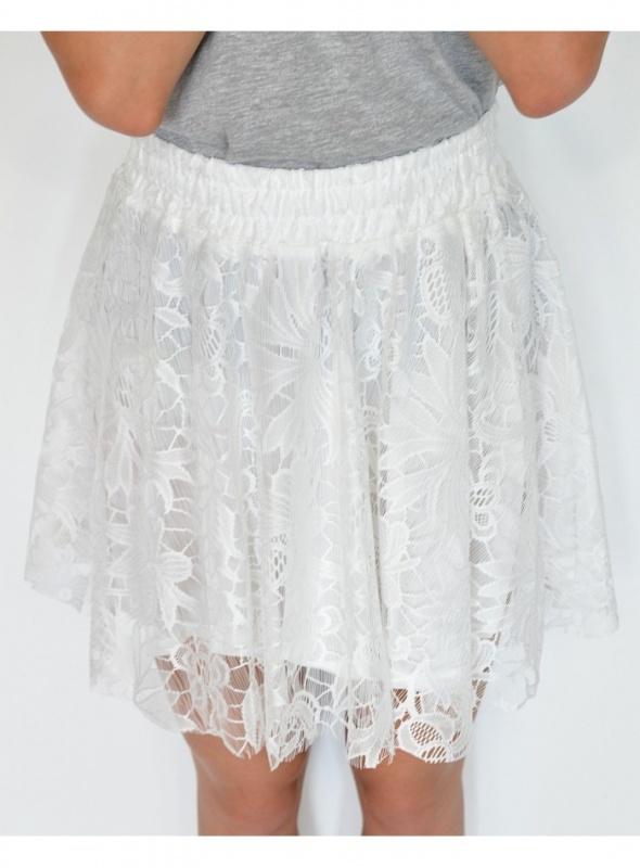 Spódnice Biała koronkowa spódniczka LXL