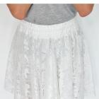 Biała koronkowa spódniczka LXL