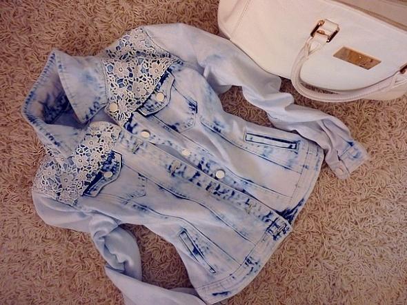 Ubrania Kurtka NY marmurkowa jeans