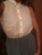 TopShop dziewczęca sukienka jeansowa guziczki...