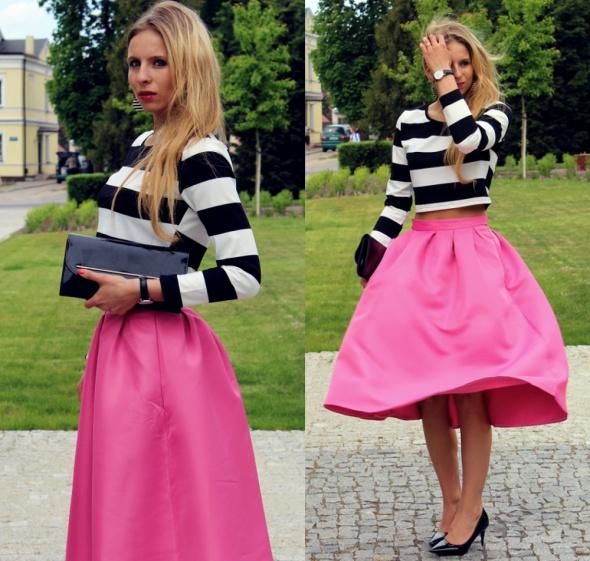 Blogerek Striped top & skirt