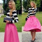 Striped top & skirt