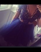 Sukienka granatowa od LOU