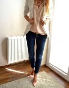 Jeans i biała marynarka