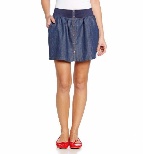 Spódnice Jeansowa bawełniana spódnica mini C&A guziki 34