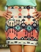 spódniczka w azteckie wzory