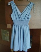 Jeansowa rozkloszowana sukienka H&M