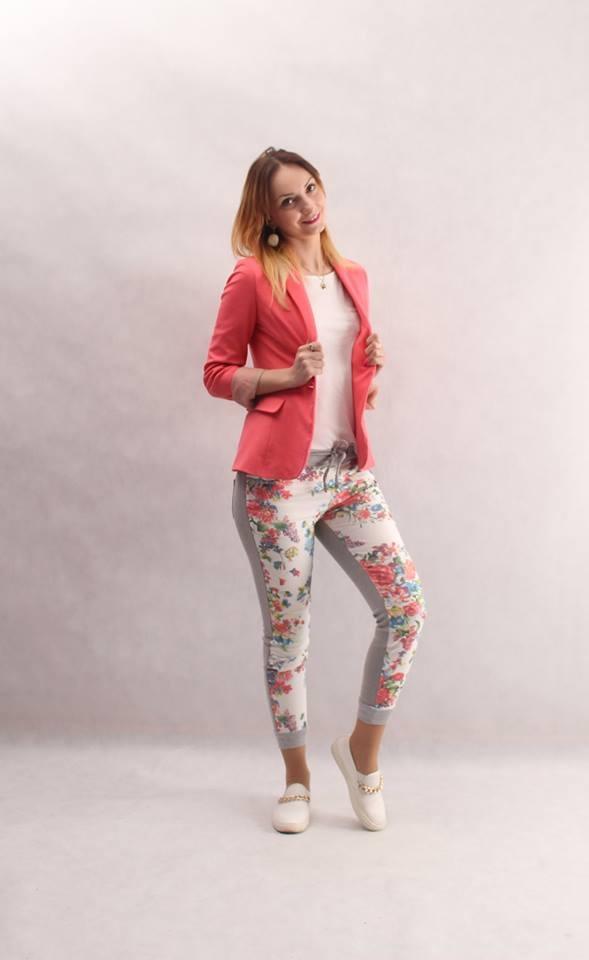 Mój styl Spodnie w kwiaty