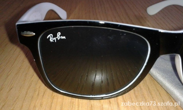 biale okulary ray ban