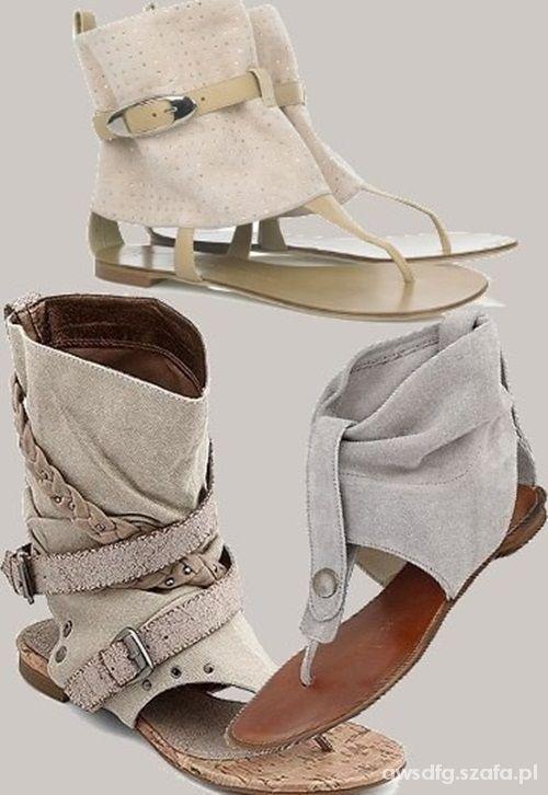 japonki sandały do kostki...