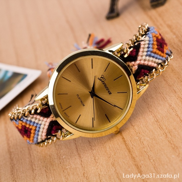 Zegarek pleciona bransoletka łańcuszek hit