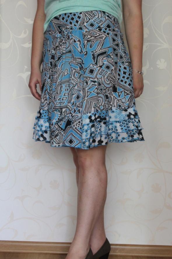 Spódnice Letnia niebieska spódniczka we wzory