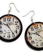 kolczyki zegary wiszące
