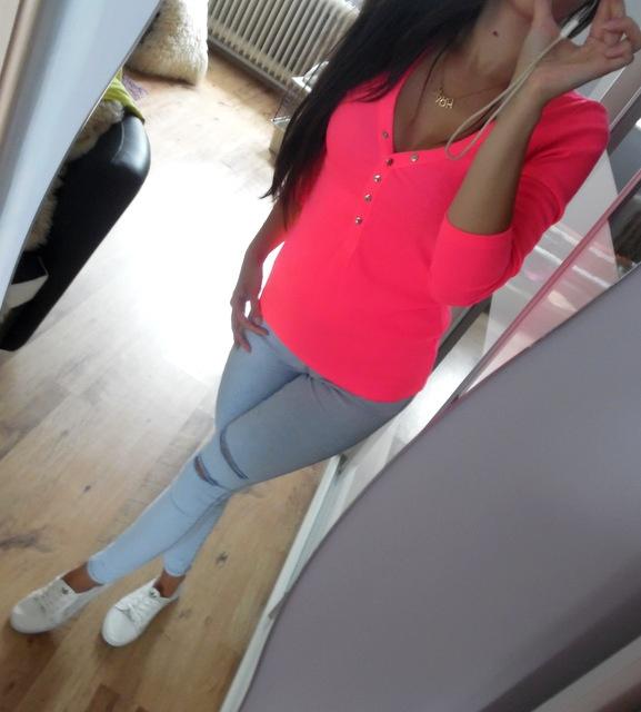 Codzienne neon jeans