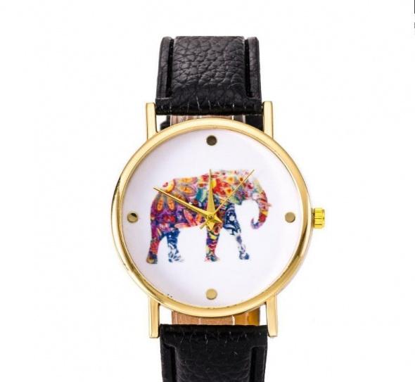 Zegarek słoń biały i czarny