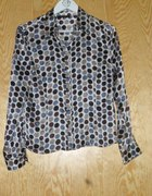 jedwabna koszula w grochy M L