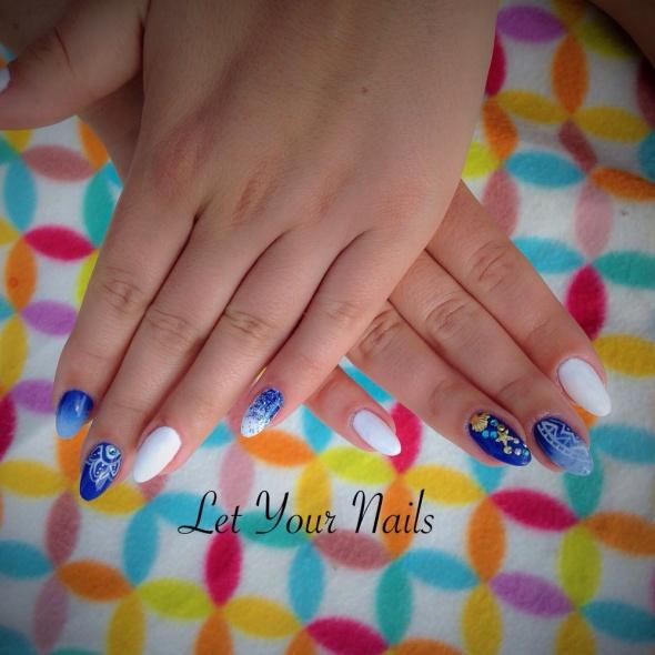 Pazurki niebieski i biel morskie
