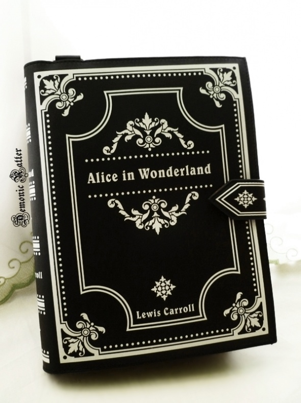 213cfae6454f4 Restyle Alice in Wonderland Book Bag.
