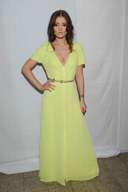 H&M conscious maxi sukienka neon