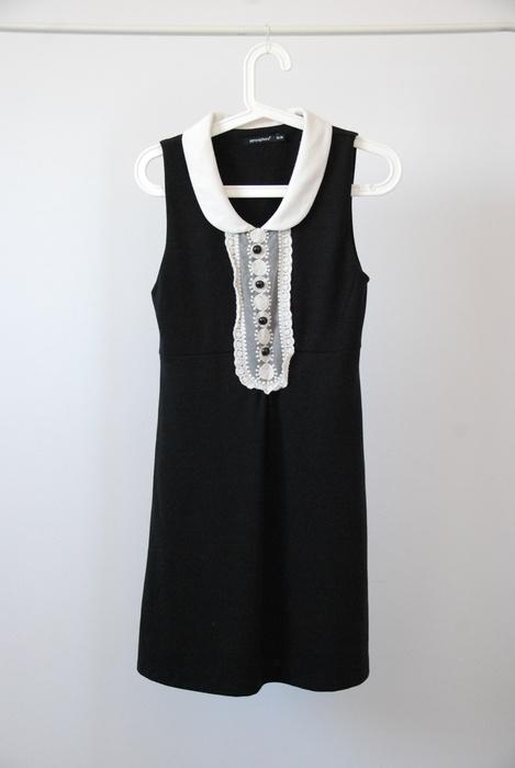Ubrania Atmosphere czarna sukienka żabot