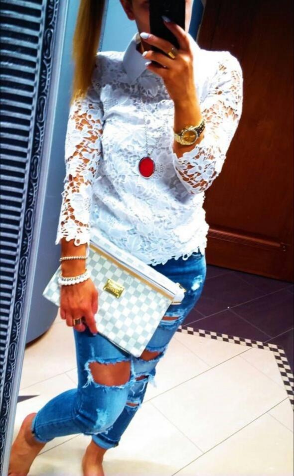 Mój styl Gipiurowa bluzeczka w innej odsłonie