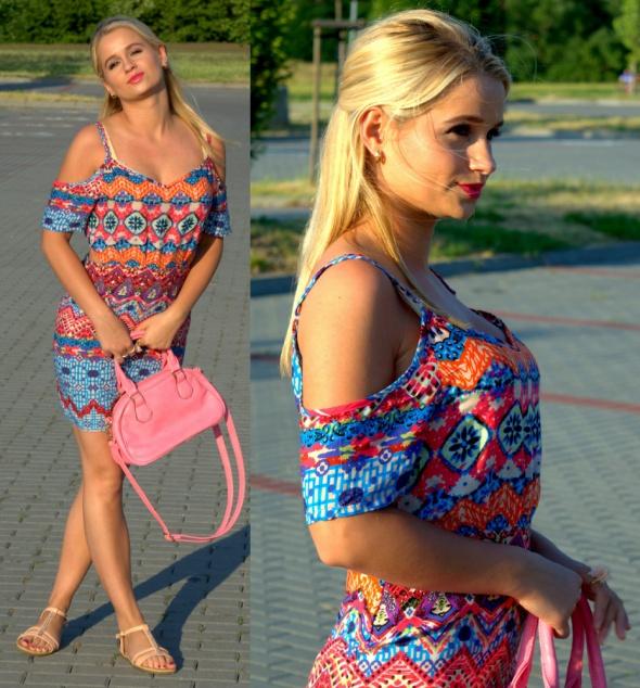 Blogerek Colorful dress