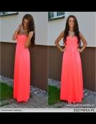 sukienka maxi neon
