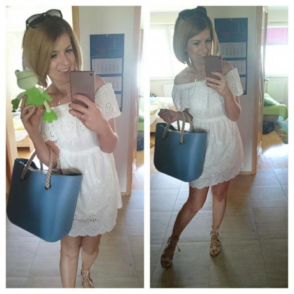 Codzienne biała sukienka na upały
