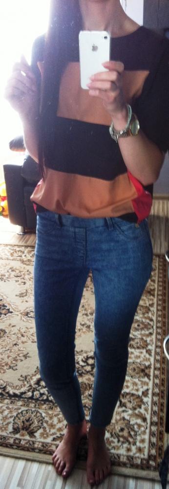 Mój styl rurki marmurki bluzka koszulowa atmo