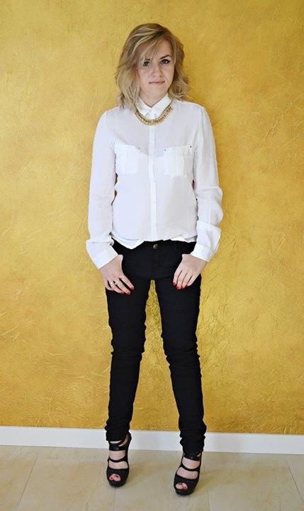 Eleganckie Black White