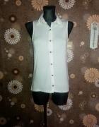 New Look bluzka S M biała asymetryczna
