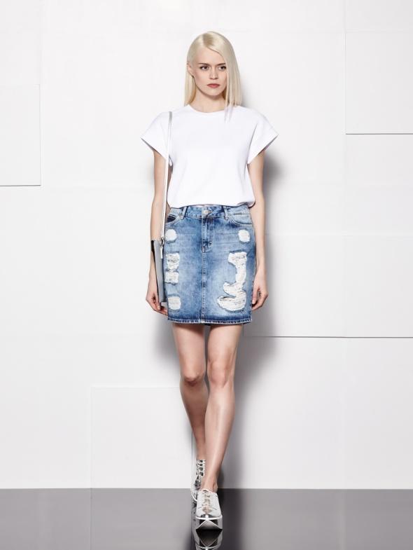 Spódnice Spódnica rwana jeans dziury