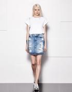 Spódnica rwana jeans dziury