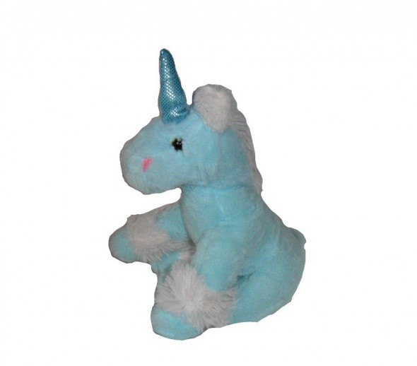 Zabawki Śliczny błękitny siedzący Jednorożec