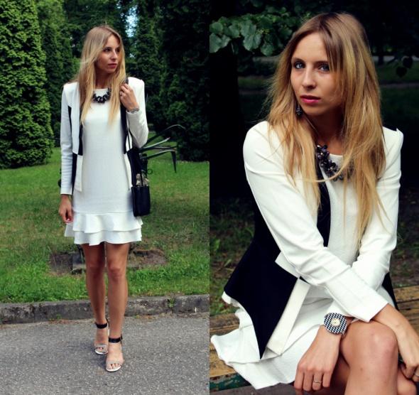 Blogerek Sukienka z falbanką