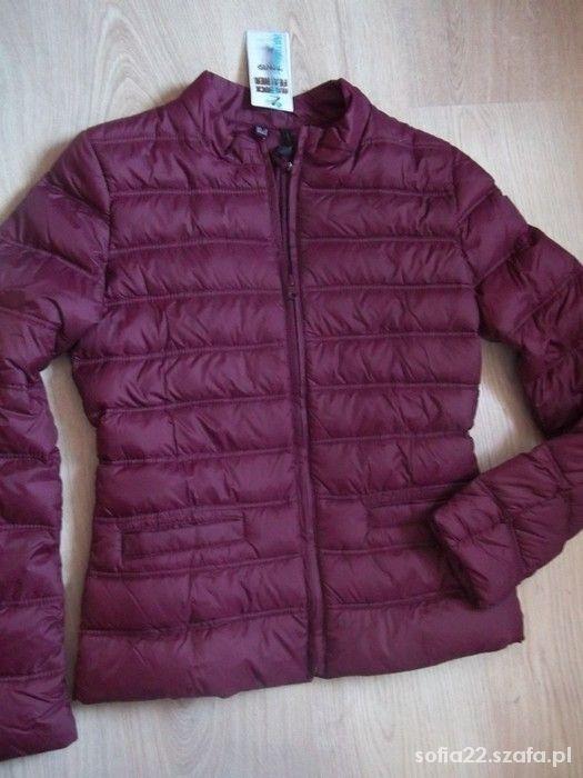 kurtka pikowana burgundowa