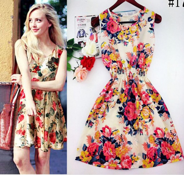 Codzienne Kocham sukienki w kwiaty