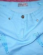 spódnica młodzieżowa niebieska