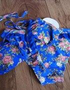 Bikini floral z falbanką nowe