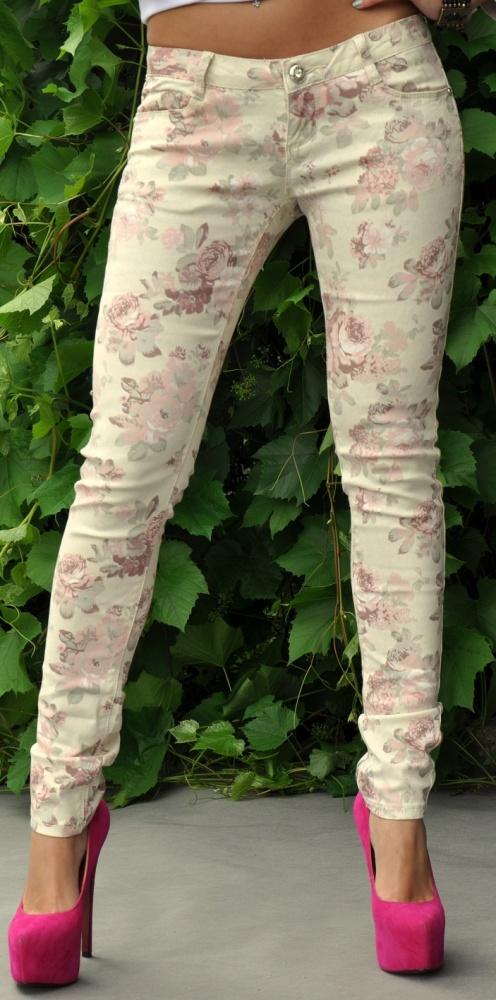 Spodnie rurki biodrówki kolor