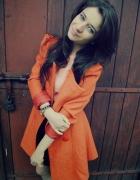 Pomarańczowy płaszcz XS