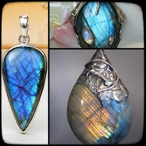 Biżuteria Wisior z LABRADORYTEM
