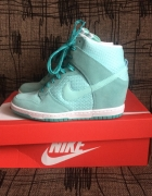 Nike Sky Dunk High turkusowe koturn