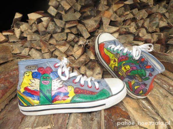 Trampki ręcznie malowane handmade buty tenisówk w Trampki