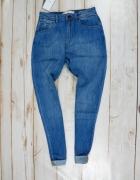 BERSHKA jeansowe BOYFRIEDNY klasyczne baggy S