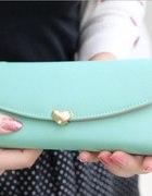 NOWY damski portfel mięta