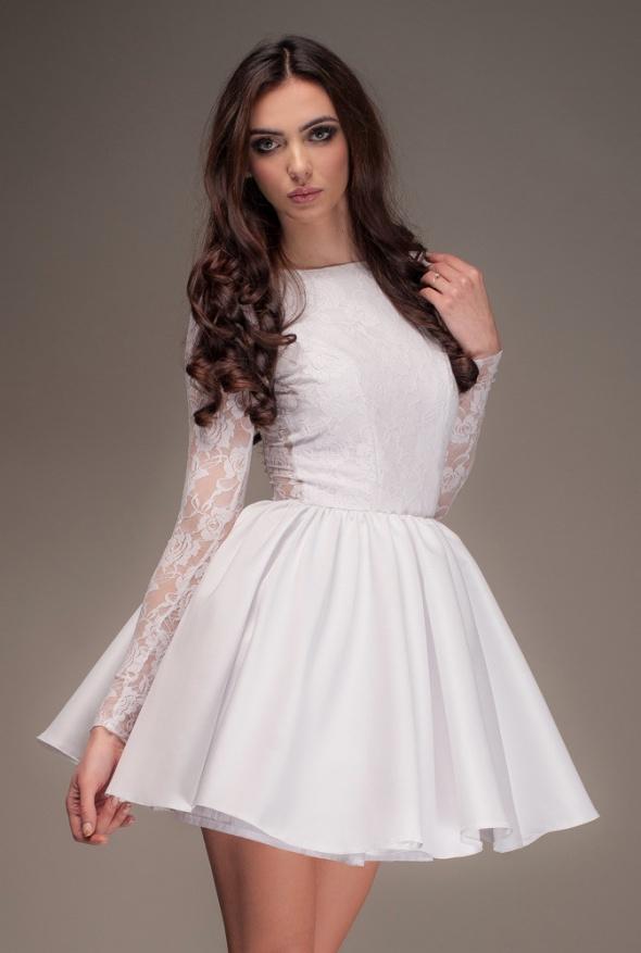 7c743ad9fe Biała sukienka Lou Blanche M w Suknie i sukienki - Szafa.pl