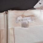 AMISU biała zdobiona mini