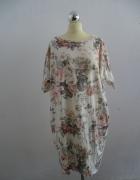 Sukienka kwiecista z kieszeniami 44 48